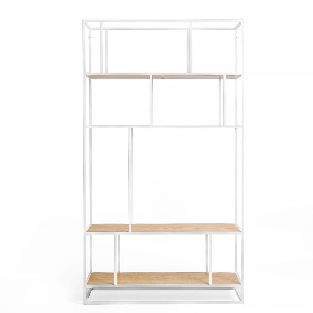 Купить Стеллаж Makella white, светлый дуб в интернет магазине дизайнерской мебели и аксессуаров для дома и дачи