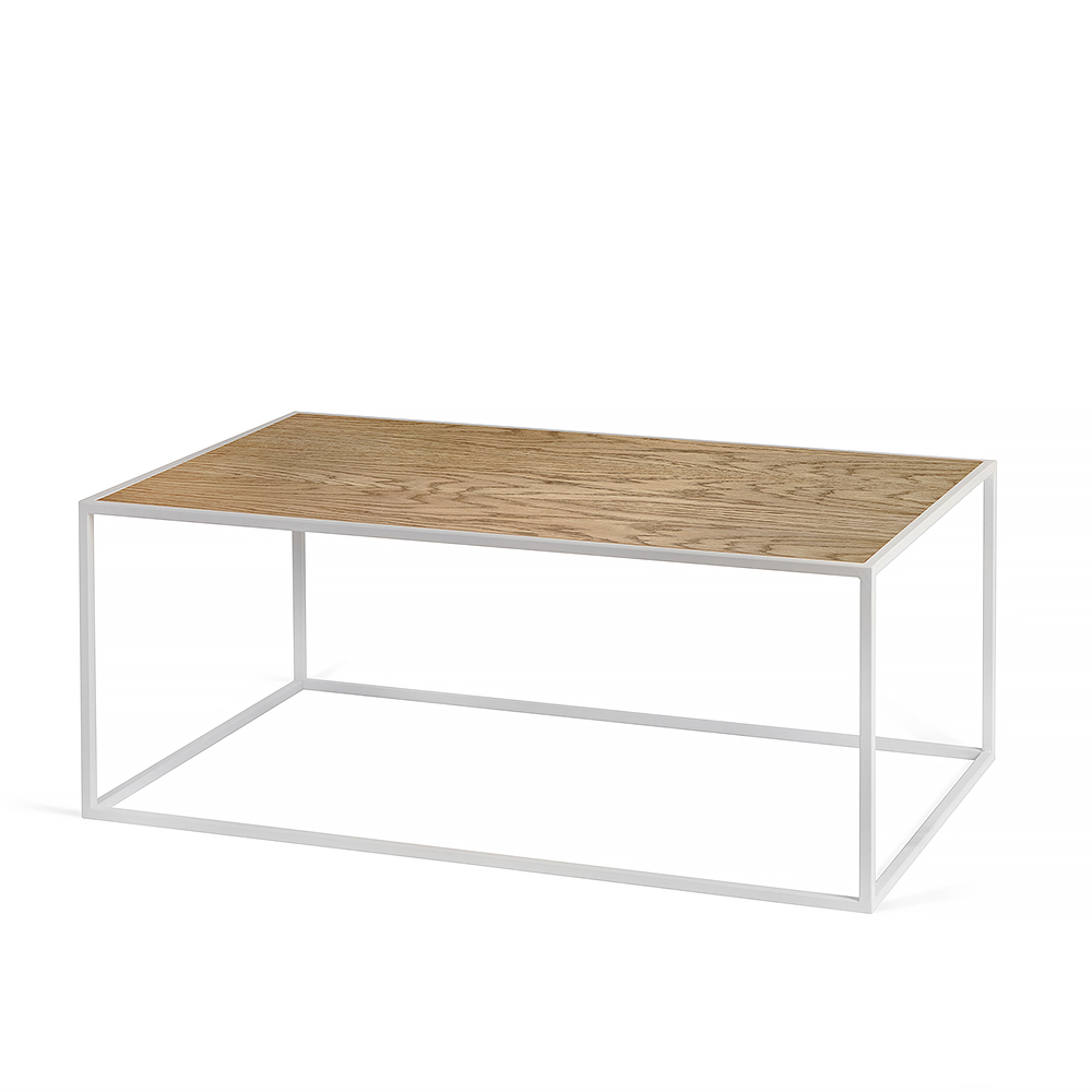 Журнальный столик Darmian 2 white, тёмный дубЖурнальные столики<br><br>