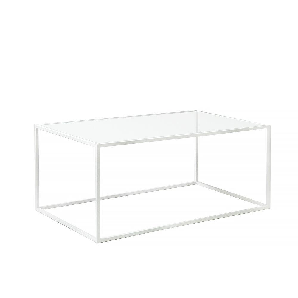 Купить Журнальный стол Darmian 2 white, прозрачное стекло в интернет магазине дизайнерской мебели и аксессуаров для дома и дачи