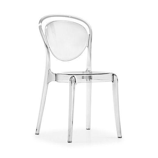 Стул Parisienne прозрачныйПластиковые стулья<br><br>