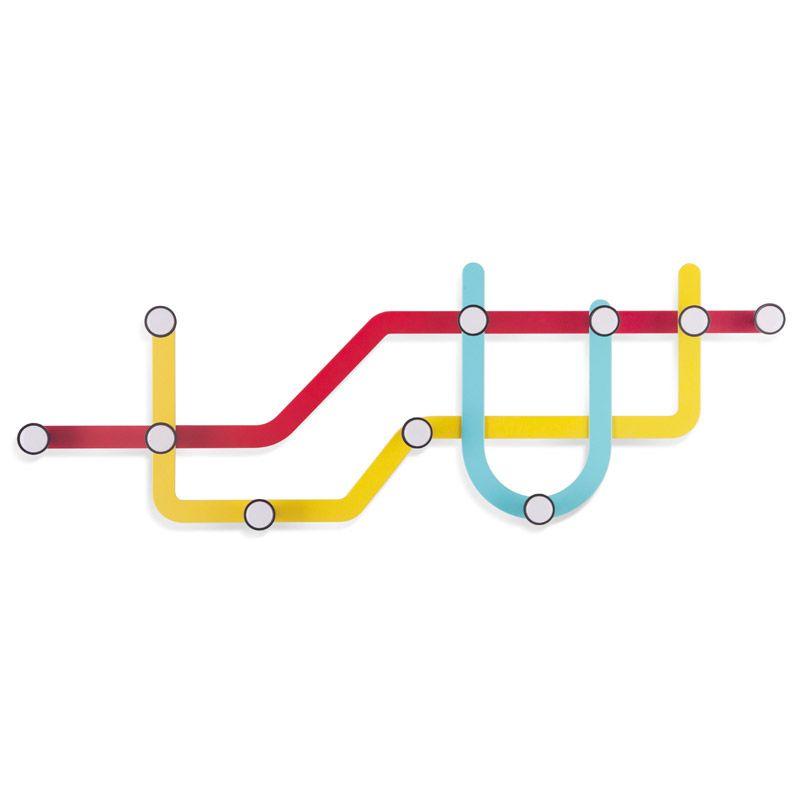 Вешалка Subway разноцветнаяНастенные вешалки<br><br>