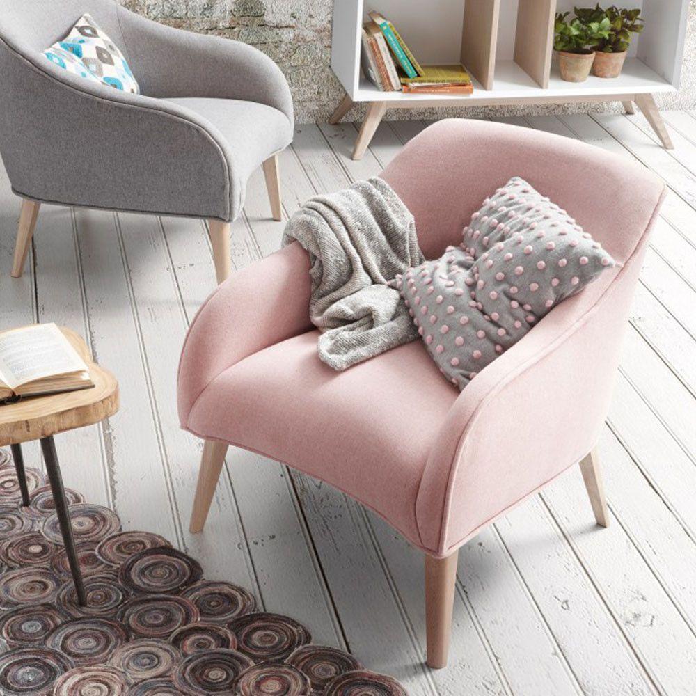 Кресло из натурального дерева LOBBY розовое