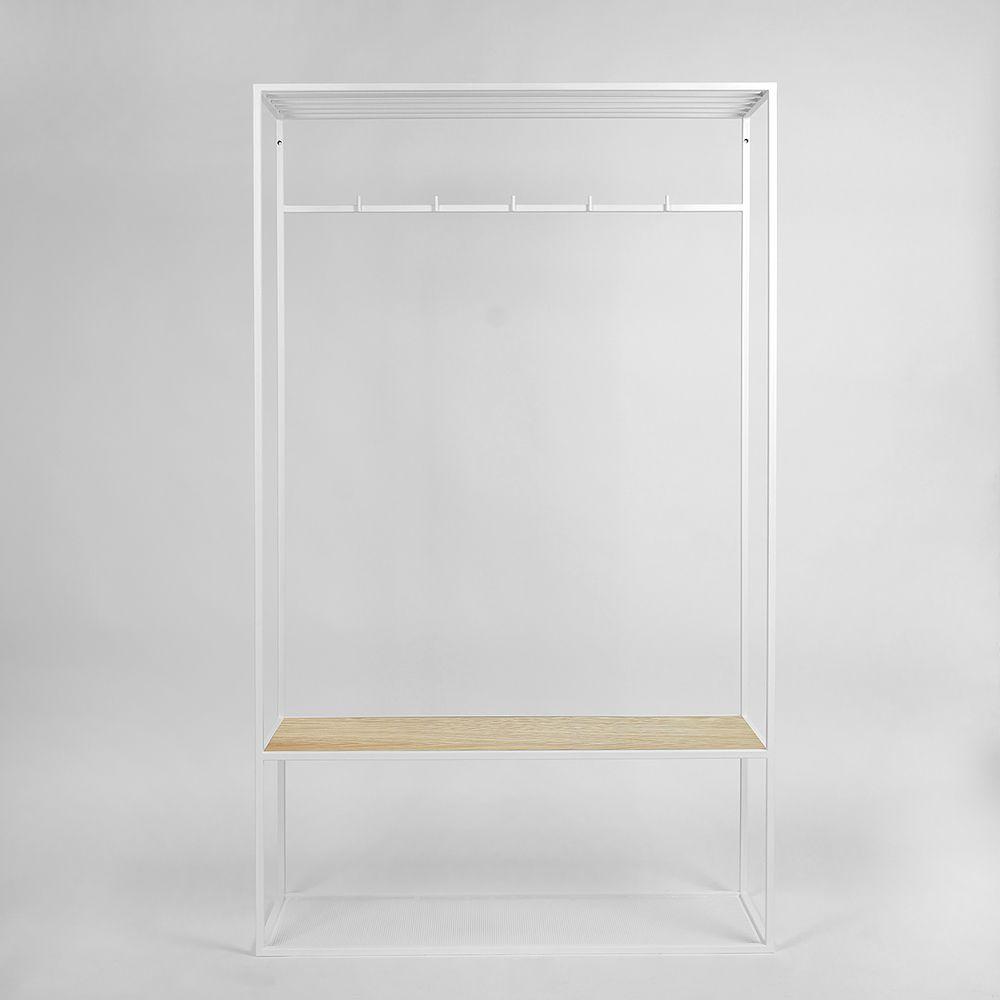 Купить Вешалка в прихожую Hallra white светлый дуб в интернет магазине дизайнерской мебели и аксессуаров для дома и дачи