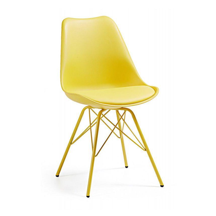 Желтый стул LarsМеталлические стулья<br><br>