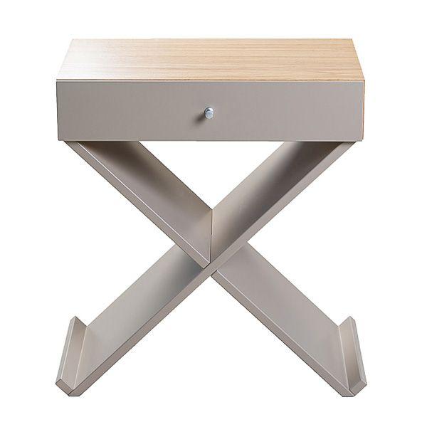Купить Прикроватная тумба Bonn серый/дуб в интернет магазине дизайнерской мебели и аксессуаров для дома и дачи