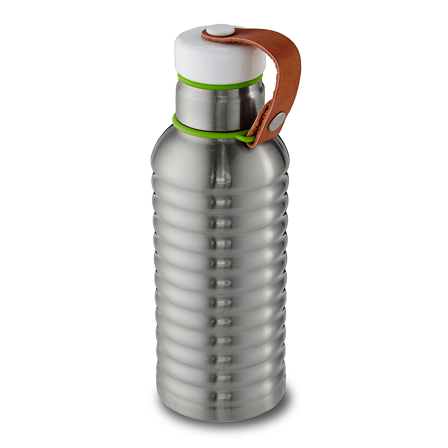 Фляга Insulated Water Bottle 500 мл сталь-лаймБар<br><br>