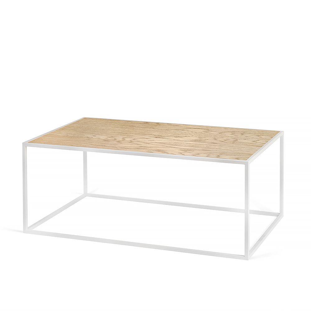 Купить Журнальный столик Darmian 2 white, светлый дуб в интернет магазине дизайнерской мебели и аксессуаров для дома и дачи