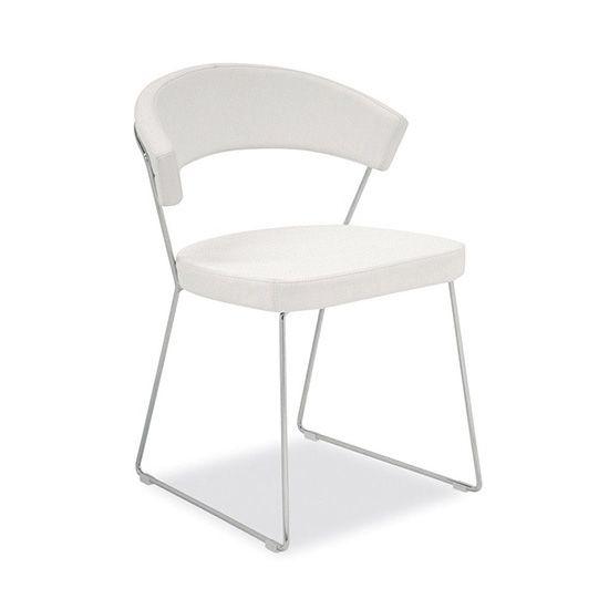 Кресло New York хром/белыйМеталлические стулья<br><br>