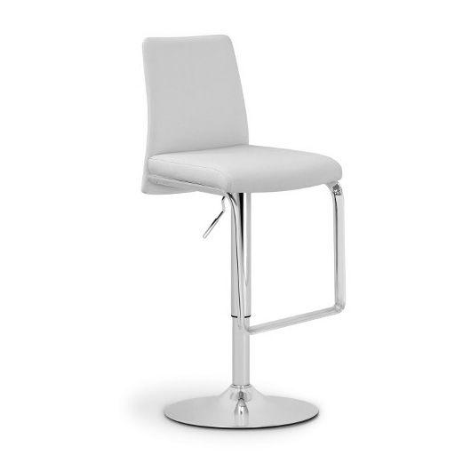 Барный стул Nina SG хром/белыйБарные стулья<br><br>