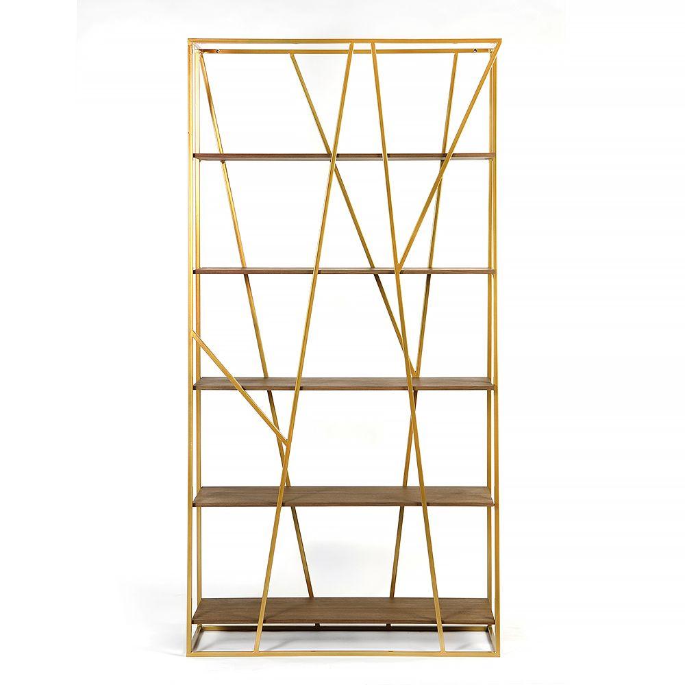 Купить Стеллаж Powell gold, американский орех в интернет магазине дизайнерской мебели и аксессуаров для дома и дачи