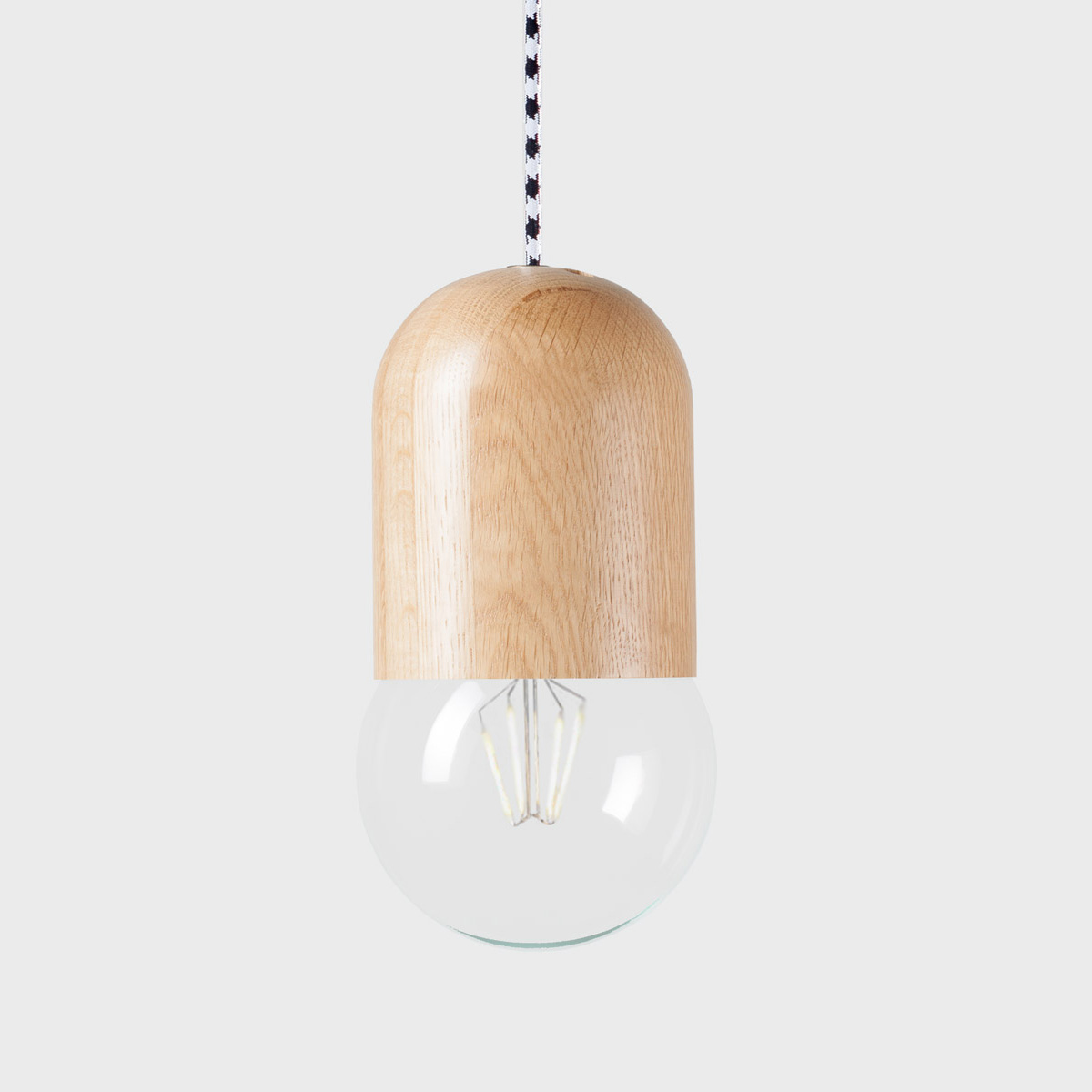Подвесной светильник Light Bean Bubble с чёрно-белым проводомПодвесные светильники<br><br>