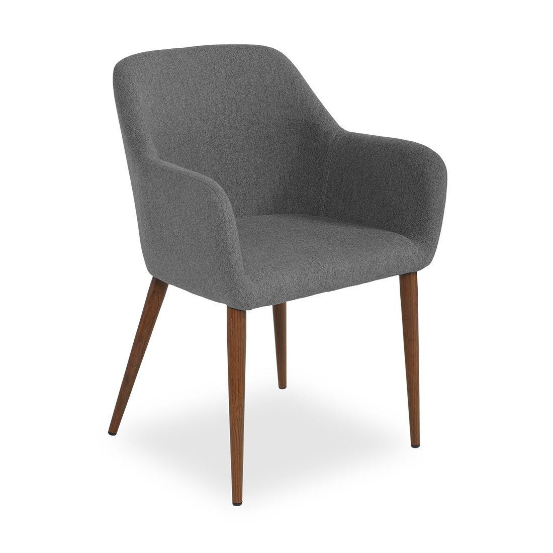 Купить Кресло Federica орех/серое в интернет магазине дизайнерской мебели и аксессуаров для дома и дачи