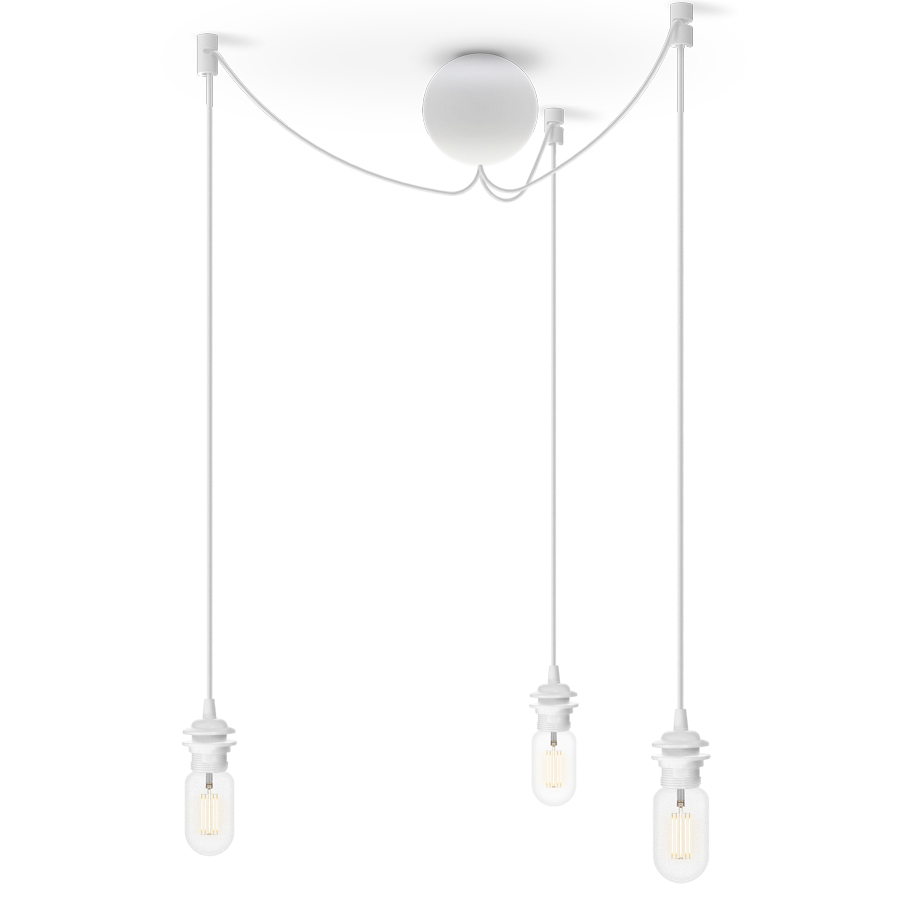 Потолочная чаша на 3 плафона Cannonball WhiteПодвесные светильники<br><br>