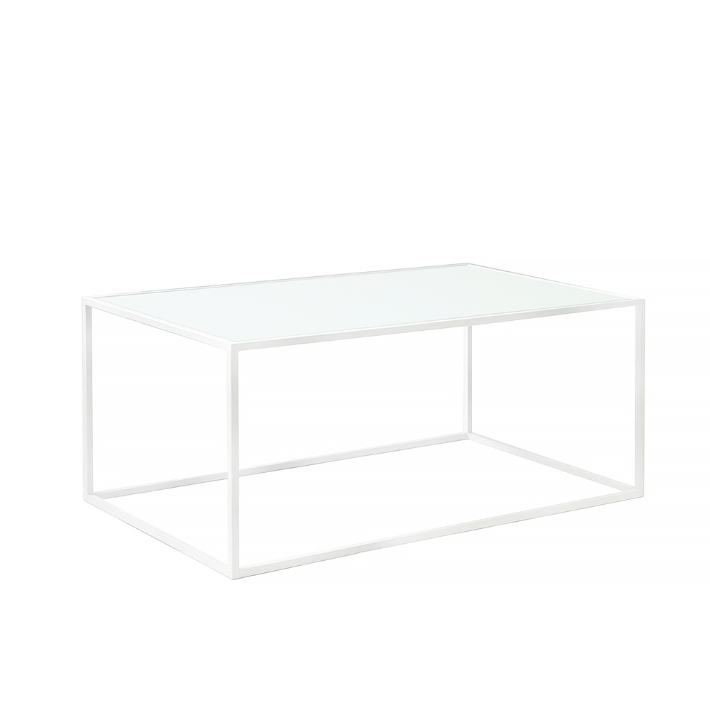 Журнальный стол Darmian 2 white, матовое стеклоЖурнальные столики<br><br>