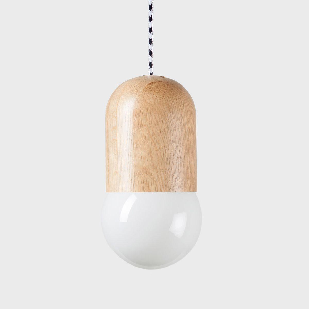 Подвесной светильник Light Bean матовый с чёрно-белым проводомПодвесные светильники<br><br>