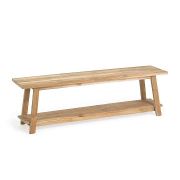 Safara solid recycled teak bench 150 cm