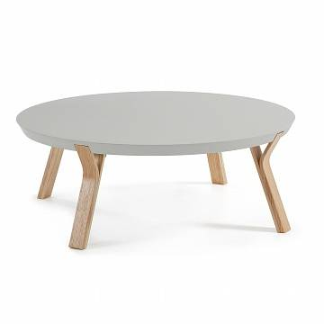 SOLID Coffee Table Ash Lacquered Matt Light grey