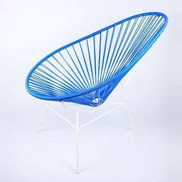 Кресло Acapulco Chair белый/синий