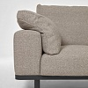 Превью Noa beige 3-seater sofa with pillows and dark legs