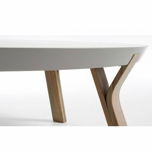 SOLID Coffee Table grey Oak Lacquered Matt Light grey