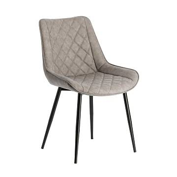 AFFAIR Chair metal black PU taupe