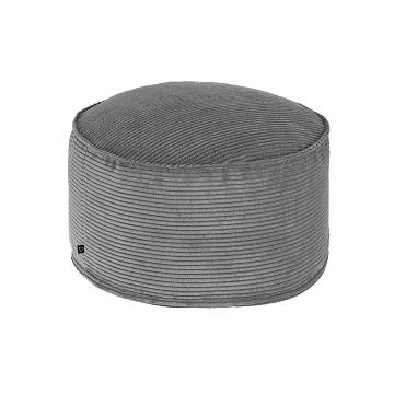 ZIZI Pouf Ø60 fabric grey
