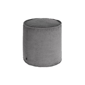 ZIZI Pouf Ø45 fabric grey