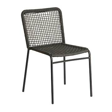 MANDYRA Chair metal grey rope black