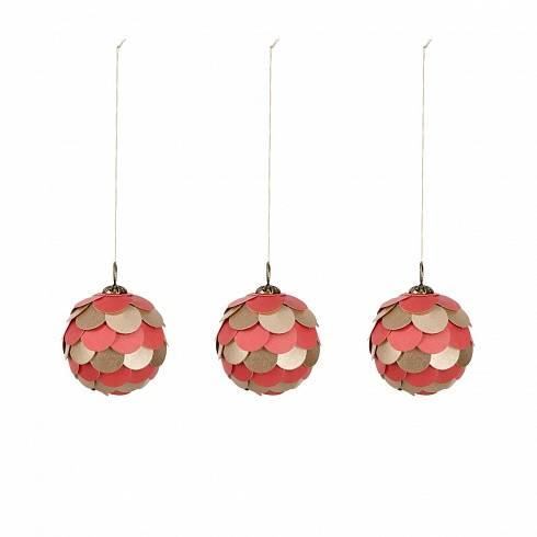 FELICITA Felicita red bauble set