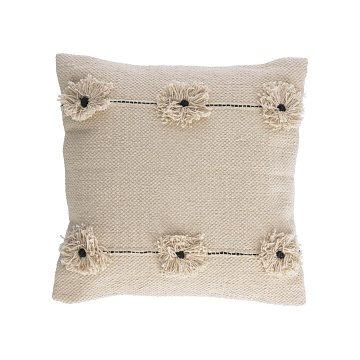 BELISA Cushion 45x45 cotton beige