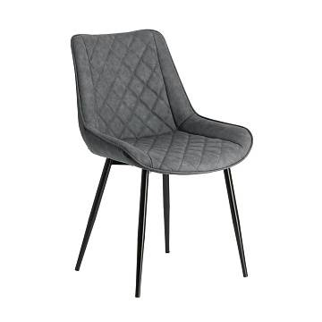 AFFAIR Chair metal black PU graphite